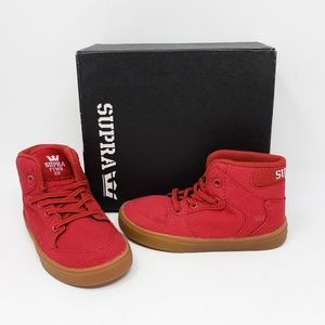 Supra Toddler Vaider Skateboarder red high tops
